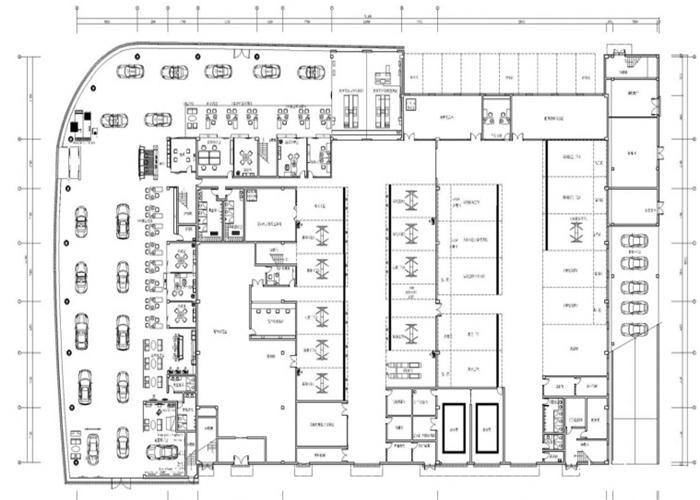 合肥保时捷4s店装修平面设计图